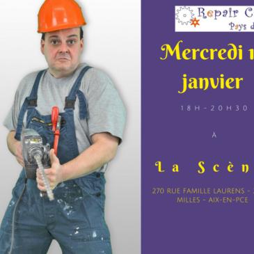 Repair Café le 17 janvier à La Scène
