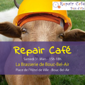 Repair Café à Bouc-Bel-Air!