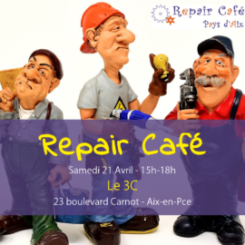 Repair café le 21 avril à Aix